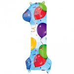 Number 1 - Balloons & Streamers - 28245