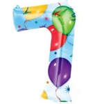 Number 7 - Balloons & Streamers  - 28257