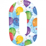 Number 0 - Balloons & Streamers  - 28243