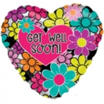 MICRO.Get Well Graphic Floral - 10cm - 33728-04