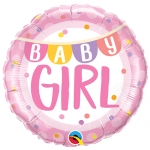Baby Girl Banner & Dots - 45cm - 85851