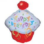 MINI.Happy Birthday Cupcake - 35cm - 17844-14