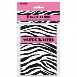 Party Invitation.Zebra Passion - UN43384