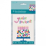 Invitation.Party.Confetti Birthday Cake - UN49614