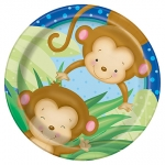 Plates.Baby Shower.Boy Monkey - 18cm - UN49744