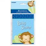 Invitation.Party.Baby Shower.Boy Monkey - UN49754