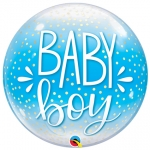 Single bubble.Baby Boy Blue Confetti & Dots - 55cm  - 10040