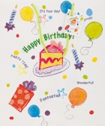 Giftbag.Birthday Wishes.Asst.Large - UN64327
