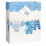 Giftbag.Baby Bow Clothesline.Blue.Large - UN64448