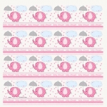 Gift Wrap Roll.Umbrellaphants.Pink - 76cm x 155cm - UN41680