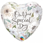 Special Day White Floral - 45cm - QU-10489