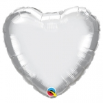 Chrome Silver Heart - 45cm - 89611