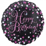 HBday Pink Sparkling Prism - 45cm - AN-33782