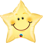 Smiley Face Star Yellow - 50cm - QU-55394