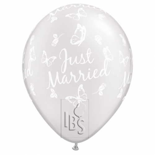 QU.11.Just Married Butterflies.pearl white