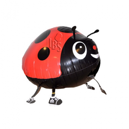 Walking Balloon .Red Lady Bug