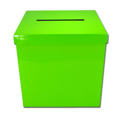 Wedding Gift Box.lime green - 25x25x25cm
