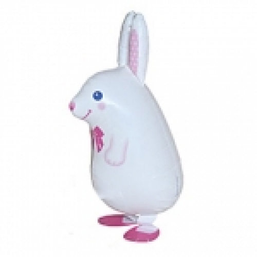 Walking Balloon .White Bunny