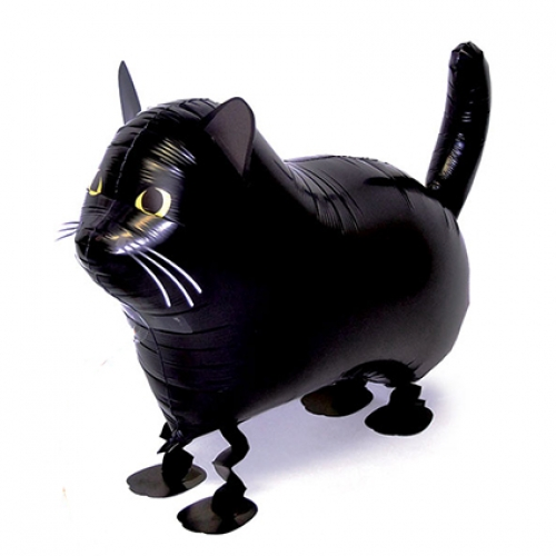 Walking balloon. Black Cat