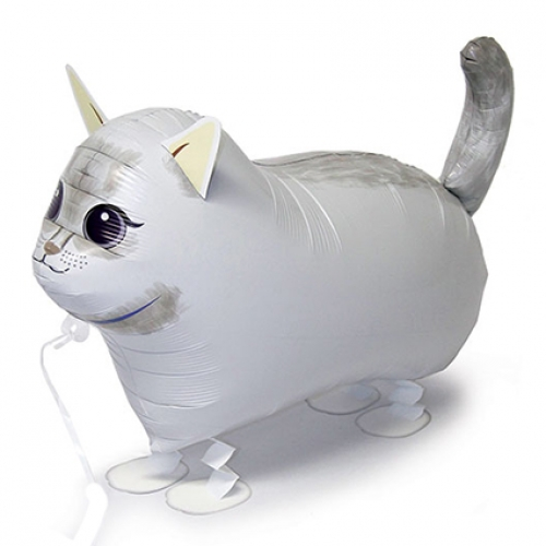 Walking balloon.White Cat  - 57cm