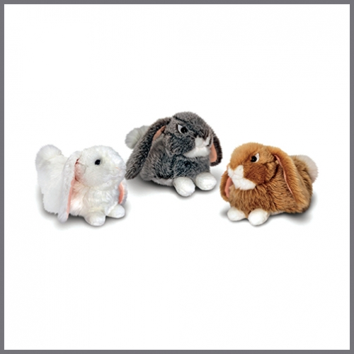Rabbits.Laying.3 Pcs - 18cm