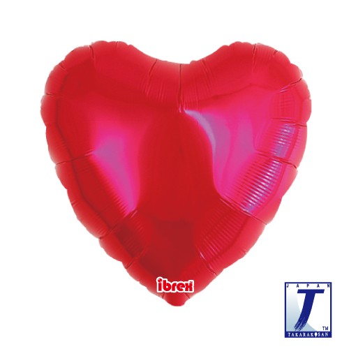 Standard Heart.metallic red - 45cm