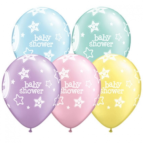 QU.11.Baby Shower Moons & Stars - 25pcs