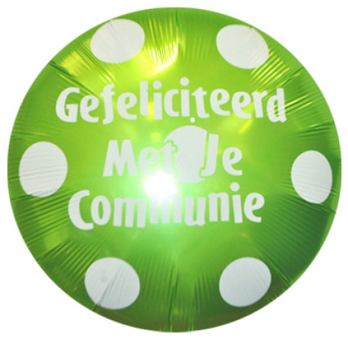 Communie.Big Polka Dots.lime green - 90cm