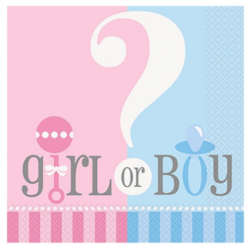 Napkins.luncheon.Gender reveal - 20pcs