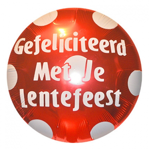 Lentefeest.Polka Dots.Ruby Red - 75cm