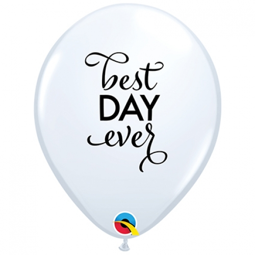 QU.11.Simply The Best Day Ever.white* - 25pcs