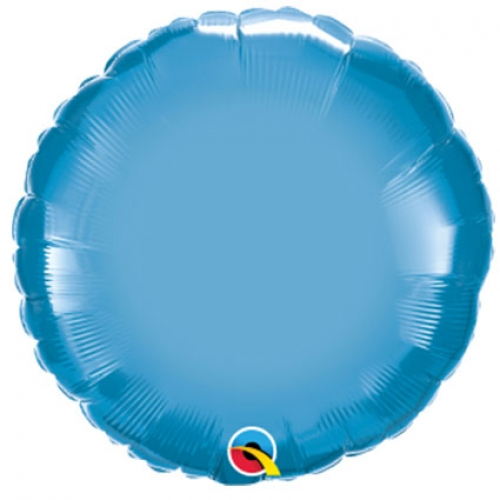 Chrome Round Blue - 45cm
